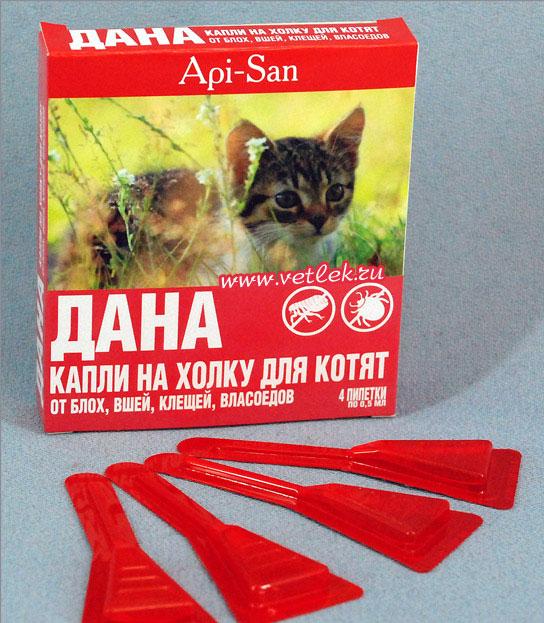 Настоящее спасение для кошки — капли Дана
