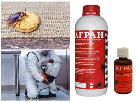 Применение Аграна от клопов, тараканов и других насекомых
