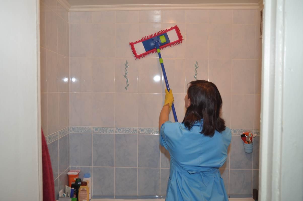Уборка в ванной