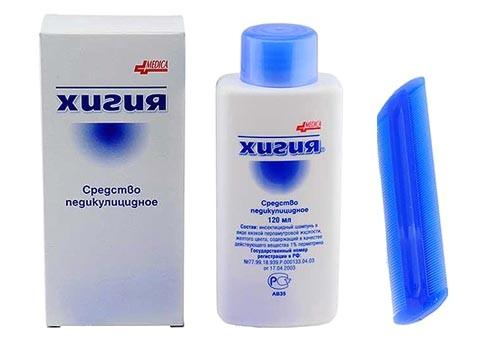 Шампунь от вшей Хигия – быстрый эффект, безопасное действие